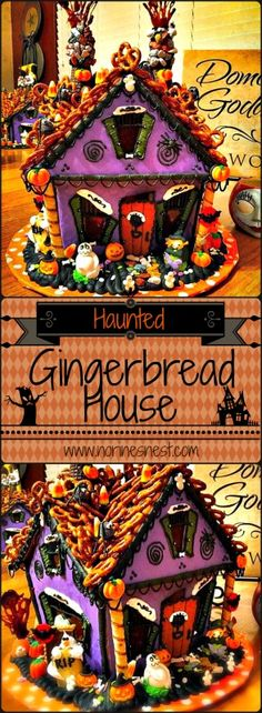"""Wanna make spooky haunted gingerbread houses? This is a fantastic """"how to"""" article on making magical mystical haunted gingerbread houses."""