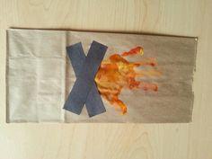 Campfire hand print