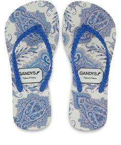 69fdf789c Gandys Women s Blue Lord Paisley Liberty Print Flip Flops  http   www.hengeloshop