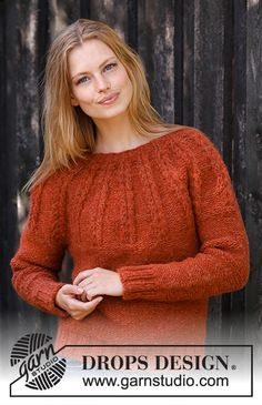 Clemence / DROPS - Free knitting patterns by DROPS Design Clemence / DROPS - Free knitting patterns by DROPS Design Always aspired to discover ways to knit, nevertheless un. Drops Design, Sweater Knitting Patterns, Knit Patterns, Free Knitting, Cable Knitting, Knitting Stitches, Knitting Needles, Pull Crochet, Knit Crochet