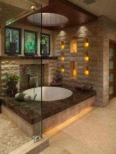 Asian bathroom design: 45 Inspirational ideas to soak up - - If you seeking ideas on renovating or designing a bathroom, consider styling your space with an Asian inspired design, which is very soothing and elegant. Luxury Master Bathrooms, Modern Master Bathroom, Bathroom Design Luxury, Dream Bathrooms, Beautiful Bathrooms, Master Baths, Small Bathroom, Master Master, Asian Bathroom