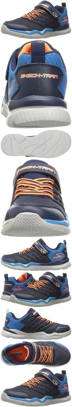 Skechers Kids Boys' Skech-Train Sneaker, Navy/Blue, 4 M US Big Kid
