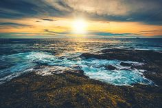 Sunset on the Ocean by TravelStock on Creative Market