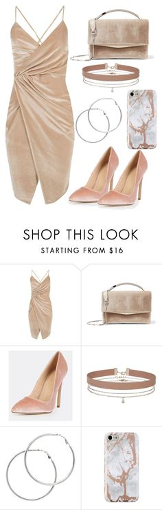 """""""Velvet Collection : Nude"""" by jessicagb ❤ liked on Polyvore featuring Boohoo, Eddie Borgo, Miss Selfridge and Melissa Odabash"""