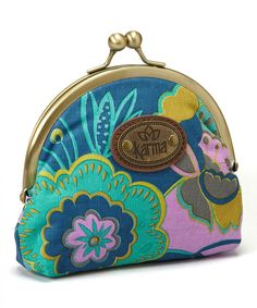 Look at this Navy Floral Kiss-Lock Coin Purse on #zulily today!