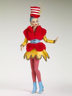 Dr. Seuss Collection - The Cat's Hat | Tonner Doll Company. I may want her nude for her purple eyes & blue hair & Monica sculpt. I don't want the outfit.