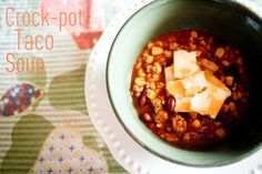 Weight watchers crock-pot taco soup