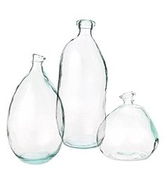imperfect glass bottles and vases are so much fun to decorate with!