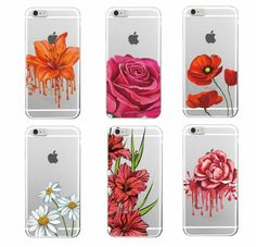 2016 flor rosa estampado de flores color de rosa caliente jardín tpu soft phone case cubierta para iphone 4 5 6 7 s plus se 5c samsung