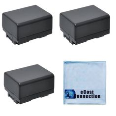 3 Canon BP727 Replacement Batteries Fully DeCoded for HF M50 HF M500 HF M52 HF R30 HF R300 Canon Vixia Camera  Microfiber Cloth >>> Check this awesome product by going to the link at the image.