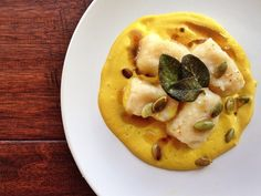 Ricotta Gnudi with Butternut Squash Sage Sauce - Chef Stephanie Goldfinger