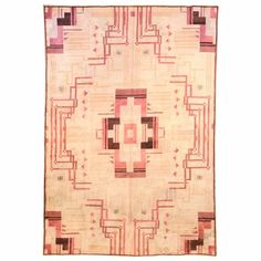 For Sale on - Pink Vintage Art Deco rug Size: × × 386 cm) An early century Art Deco vintage carpet, the pinkish ivory field with stepped pink and Arte Art Deco, Motif Art Deco, Art Deco Rugs, Carpet Sale, Rugs On Carpet, Tapetes Art Deco, Vintage Rugs, Vintage Art, Tapetes Vintage