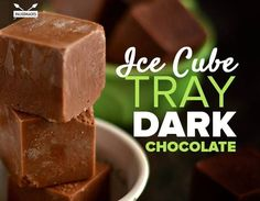 Ice Cube Tray Dark Chocolate
