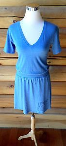 Womens Size Small Victoria's Secret PINK T Shirt Dress, V Neck, Soft & Thin Blue. $14.99
