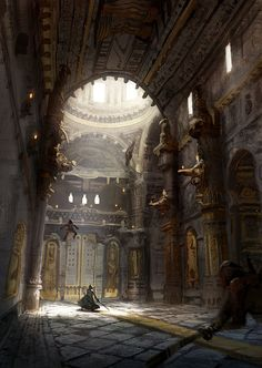 Hallway by fooyee on DeviantArt. Man-oh-man, it's so amazing and beautiful and I want to write a story about it! :D