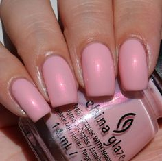 China Glaze Eat, Pink, Be Merry swatched by Olivia Jade Nails