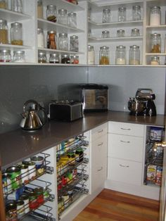 nice to have counter space in a alk-in pantry