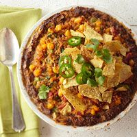Deep-Dish Mexican Meat Loaf Pie