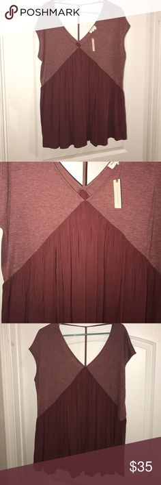 Top Never worn too from Anthropologie (Meadow Rue) Anthropologie Tops Blouses