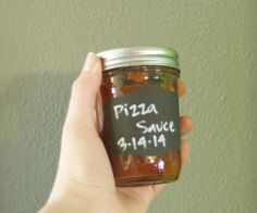 """Canned Pizza Sauce The """"New"""" Recipe Ingredients: 4 tablespoons olive oil 6 cloves garlic, minced 1 medium onion, chopped finely 1 cup chicken broth 3/4 Cup Lemon Juice Three 28-ounce cans crushed tomatoes (or six 15-ounce cans) Salt and pepper 1 teaspoon sugar 1 teaspoon TexJoy 2 teaspoon dried oregano 15-20 fresh basil leaves, chopped"""