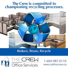 We are committed to championing recycling processes, and will ensure we provide ethical recycling alternatives to all our clients with office furniture that has met the end of its safe and useful life. Contact The Crew to find out more! Office Moving, Recycled Furniture, Office Furniture, Reuse, Life Is Good, Recycling, Life Is Beautiful, Repurpose, Office Designs