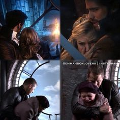 True love parallel!!! My heart hurts. Snowing and Captain Swan! Follow the creator of these amazing parallels on instagram: emmahooklovers :) #ouat #onceuponatime