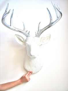 X-Large Faux Taxidermy Deer Head wall mount by mahzerandvee