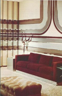 Image Result For 1960s Interior Design 1970s Painted And Wall Papered Walls