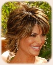 Lisa Rinna Hairstyle Back View | lisa rinna messy short shag