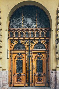 ornate and detailed door in Budapest, Hungary Grand Entrance, Entrance Doors, Doorway, Cool Doors, Unique Doors, King B, Doors Galore, Art Du Monde, When One Door Closes