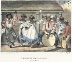John Canoe (Jonkanoo) #Dancers 1838 Jamaica