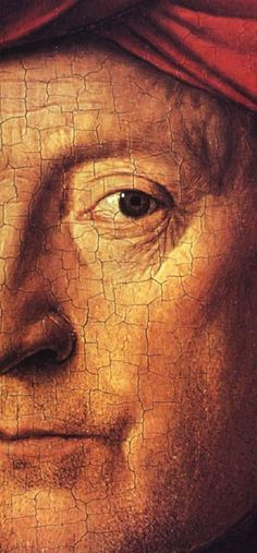 Self-portrait (detail), by Jan van Eyck (Flemish, Renaissance Artists, Renaissance Paintings, Jan Van Eyck Paintings, Oil Painting Techniques, Great Works Of Art, Dutch Painters, Italian Artist, Eye Art, Sacred Art