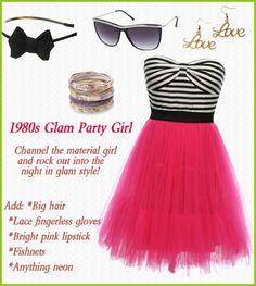Costume Idea: 1980s Glam Party Girl http://www.laceaffair.com/retro-halloween/