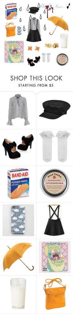 """Blue-Blue Knees"" by psycho-tsundere-fox ❤ liked on Polyvore featuring Saloni, Nine West, Monsoon, Hydrogen, WithChic, Music Notes, Hermès and Parinda"