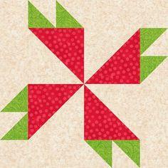 Rosebud Quilt BlockPattern