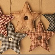 Fabric Stars - no tutorial  Easy to Do
