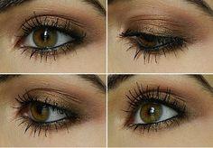 Easy eyeshadow tutorial using only one eyeshadow and black liner.