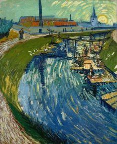 Vincent van Gogh, Canal with Women Washing, June 1888. on ArtStack #vincent-van-gogh #art