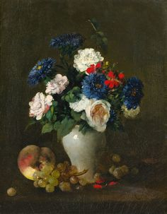 """Henri Fantin-Latour - Per """"Living a Beautiful Life,"""" Alexandra said he was her favorite painter of flowers. Henri Fantin Latour, Flower Vases, Flower Art, Art Flowers, Bouquet, Arte Floral, Old Master, Museum Of Fine Arts, Trees To Plant"""