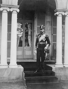 George duc de Cornwall et de York, plus tard le roi George V (1865-1936) à Brisbane (1901, Royal Collection Trust, Royaume-Uni) de Poul Chritensen Poulsen (1857-1901)