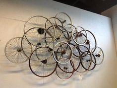 Bicycle wheel wall art art 32 Recycled Bike Into An Amazing Arts & Design