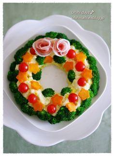 クリスマス リースサラダ♪ : うひひなまいにち