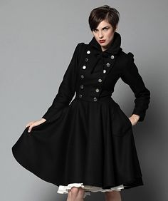 $495 Melton Wool Coat custom made by reddoll via Etsy.com. I would smile more when I wore it :)