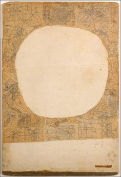 Robert Rauschenberg, Mother of God, 1950, printed maps, newspaper, enamel, oil and metallic paints on masonite
