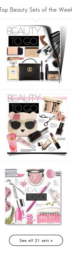 """""""Top Beauty Sets of the Week"""" by polyvore ❤ liked on Polyvore featuring beauty, Chanel, makeup, travelbeauty, Nude by Nature, Furla, CC, Oribe, Victoria's Secret and Bobbi Brown Cosmetics"""