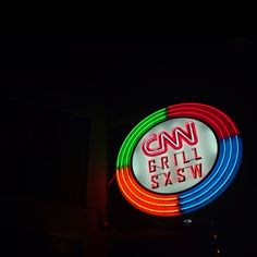 The CNN Grill is always a hotspot for meeting media players at SXSW, day or night.