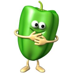 Sticker Légumignon poivron vert
