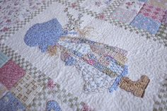Sunbonnet Sue Quilt Ideas | Stitch In My Side_Old: Baby Girl Quilt with Fandango Fabric