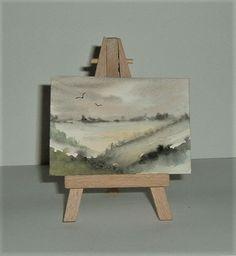 watercolour art painting aceo original (ref F215) £3.50