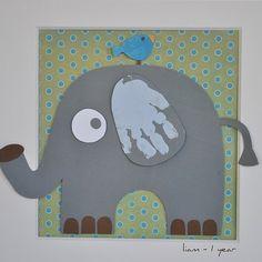 Elephant handprint art for kids Circus Crafts, Zoo Crafts, Animal Crafts, Jungle Crafts, Kids Room Art, Art For Kids, Crafts For Kids, Kids Diy, Jungle Animals